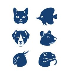 Pet icons vector