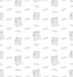 Seamless pattern with newspapers and eyeglasses vector
