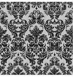 Baroque seamless vintage lace background vector
