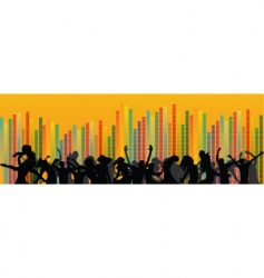 Set of party people vector