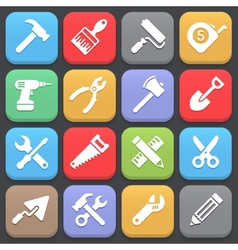 Working tool icons for web or mobile vector