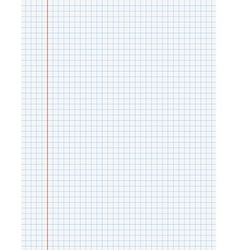 Exercise book paper page with lines vector