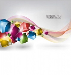 Colors winding design vector