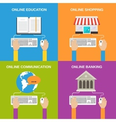Online service concepts vector