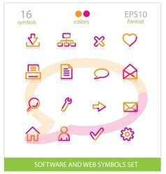 Creative interface software symbols set vector