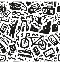 Hipsters things - seamless background vector