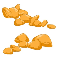 Yellow stone rock vector