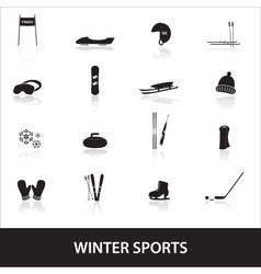 Winter sports eps10 vector