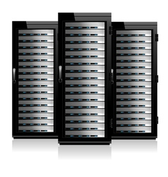 Servers black vector