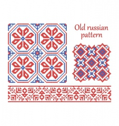 Russian vintage pattern vector