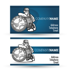 Business card for sanitary technician vector