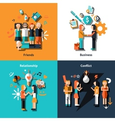 People social relationship vector
