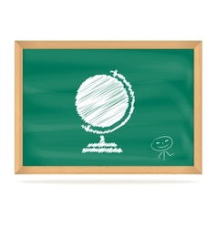 School board with a picture vector