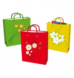 Collection bags for shopping vector