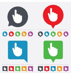 Hand cursor sign icon hand pointer symbol vector