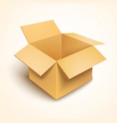 3d open cardboard box vector