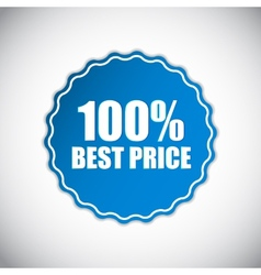 Best price blue label vector