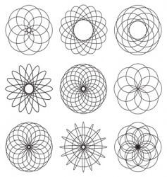 Spiral icons vector