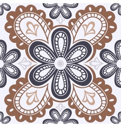Lace floral seamless pattern vector