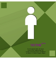 Man restroom flat modern web design on a flat vector