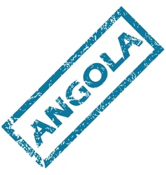 Angola rubber stamp vector