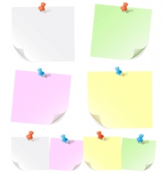 Announcements on pieces of paper vector