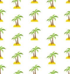 Abstract seamless pattern with tropical palm trees vector