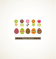 Greeting card with floweres vector