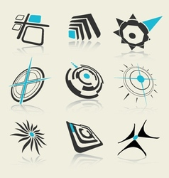 Logo and icon design elements set vector