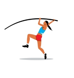 Pole vaulting sign vector