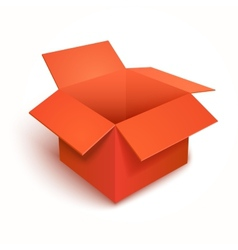3d open gift red box vector