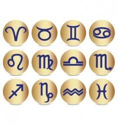 Zodiac sign icons vector