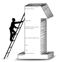 Business success ladder vector