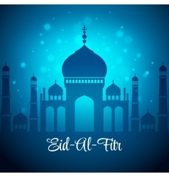 Eid al fitr eid mubarak background vector