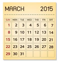 Calendar 2015 03 march vector