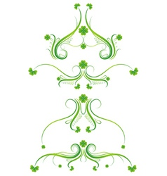 Decorative ornament with lovely shamrock vector