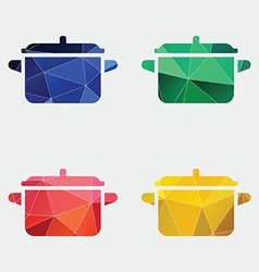 Pot icon abstract triangle vector