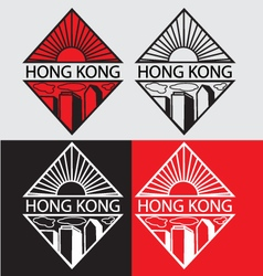 Hong kong city logotype concep vector