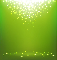 Abstract magic light on green background vector