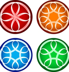 Abstract round forms vector