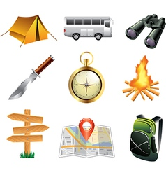 Icons tourism vector