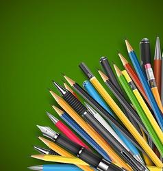 Pen and pencils vector