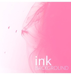 Abstract background of pink fluid ink swirling in vector