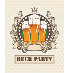 Three beers vector