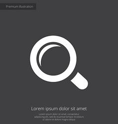 Magnifier premium icon white on dark background vector