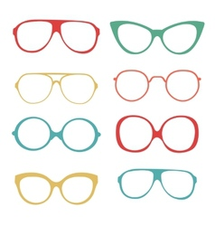 Colorful set of fashionable glasses vector