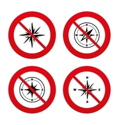 Windrose navigation icons compass symbols vector