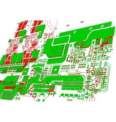 Printed circuit board without electronic component vector
