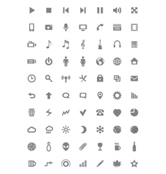 Icons and pictograms set vector