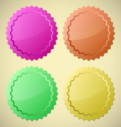 Set of colourful circle labels vector